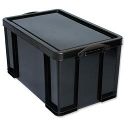 Large plastic storage boxes 84 litres