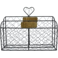 Brown Wire Letter Rack Brown